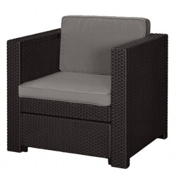 Fotel Keter Provence armchair brązowy