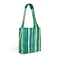 BUILT Reusable Shopper - Torba zakupowa z etui (Emerald Stripe)